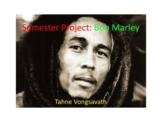 Semester Project:  Bob Marley