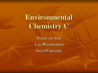 Enviromental Chemistry powerpoint