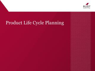 Product Life Cycle Planning