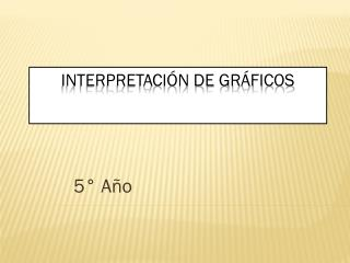 Interpretación de gráficos