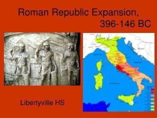 Roman Republic Expansion, 396-146 BC