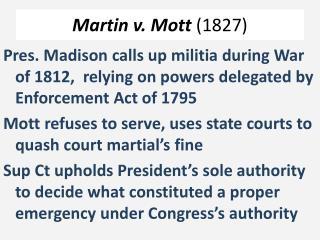 Martin v. Mott  (1827)