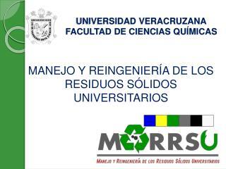 UNIVERSIDAD VERACRUZANA FACULTAD DE CIENCIAS QUÍMICAS