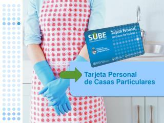 Tarjeta Personal  de Casas Particulares