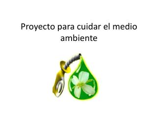 Proyecto para cuidar el medio ambiente