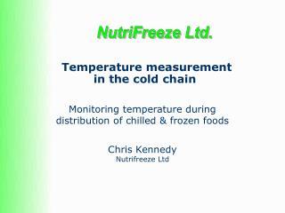 Temperature measurement  in the cold chain