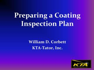 Preparing a Coating Inspection Plan
