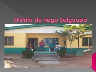 Distrito de riego  Selguapa