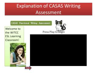 Explanation  of CASAS Writing Assessment
