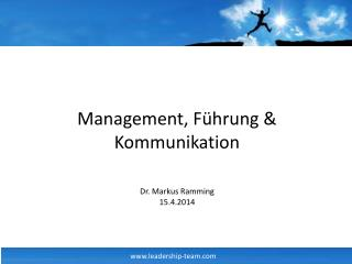 Management, F�hrung & Kommunikation