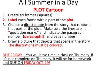 All Summer in a Day  PLOT Cartoon