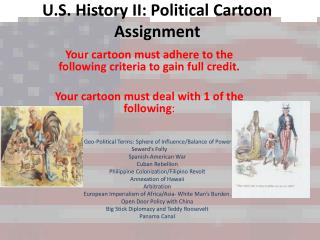 U.S. History II: Political Cartoon Assignment