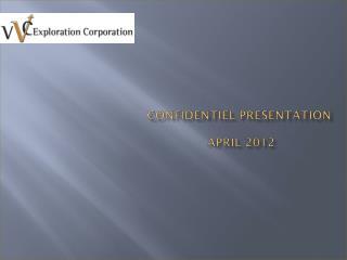 Confidentiel  Presentation  APRIL 2012