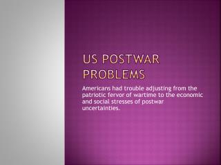US Postwar Problems