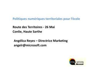 Politiques numériques territoriales pour l'école Route des Territoires - 26 Mai