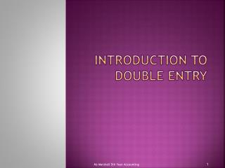 Introduction to Double Entry