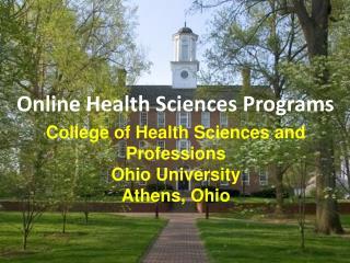 Online Health Sciences Programs