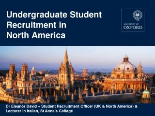 Undergraduate Student Recruitment in  North America