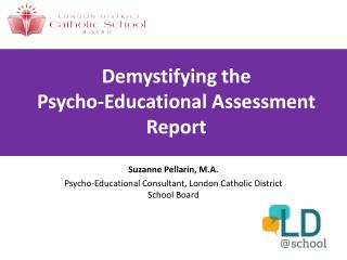 Demystifying the  Psycho-Educational Assessment Report