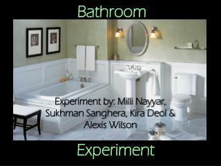 Bathroom Experiment