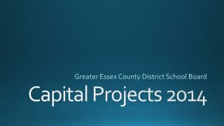 Capital Projects 2014