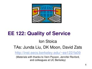 EE 122 : Quality of Service