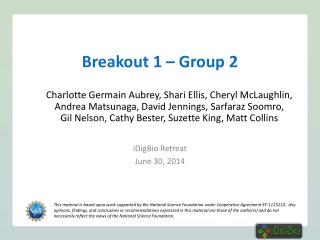 Breakout 1 – Group 2
