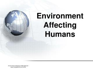 Environment Affecting Humans
