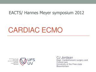 Cardiac ECMO