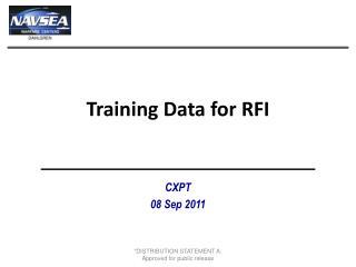 Training Data for RFI