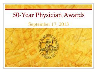 50-Year Physician Awards