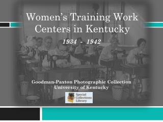 Women's Training Work Centers in Kentucky
