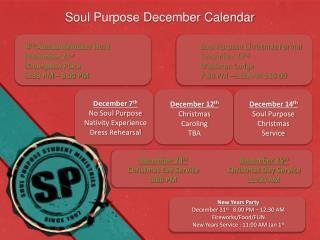 Soul Purpose December Calendar