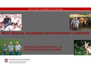 Multi-Species Acceptable Environmental Conditions