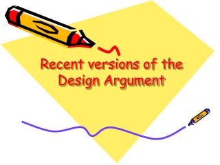 Recent versions of the Design Argument
