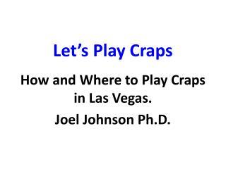 Let's Play Craps