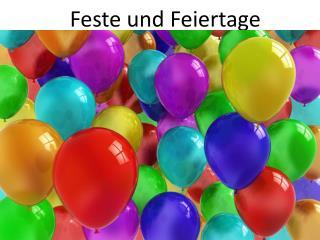 Feste  und  Feiertage