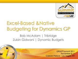 Excel-Based &Native Budgeting for Dynamics GP