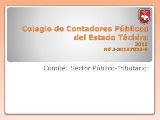 Colegio de Contadores P blicos del Estado T chira  2011 Rif J-30157823-6