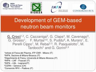 Development of GEM-based neutron beam monitors