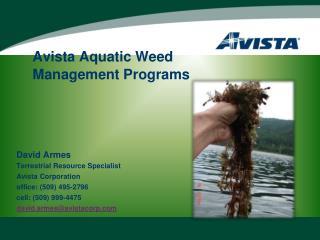 Avista Aquatic Weed  Management Programs