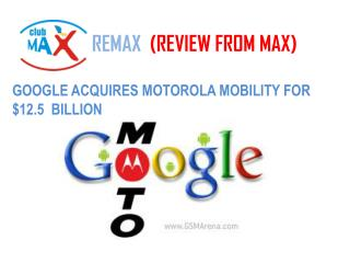 REMAX (REVIEW FROM MAX)