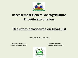 Recensement G�n�ral de l�Agriculture