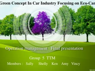 Operation management   Final presentation