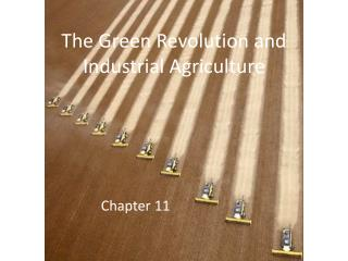The Green  R evolution and Industrial Agriculture
