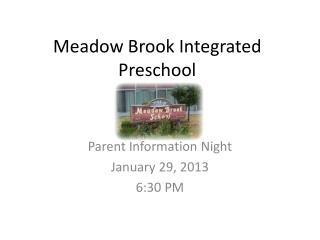 Meadow Brook Integrated Preschool