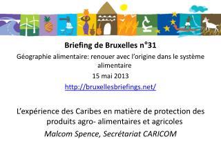 Briefing de Bruxelles n°31