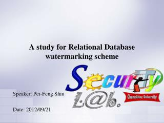A study for  Relational Database  watermarking  scheme