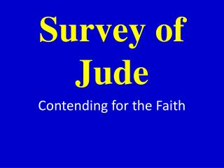 Survey of Jude