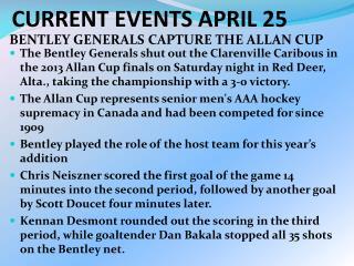 CURRENT EVENTS APRIL 25